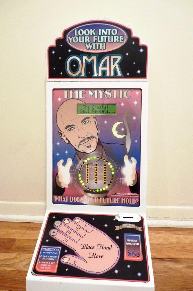vintage impulse coin op vending machine future teller Omar the mystic