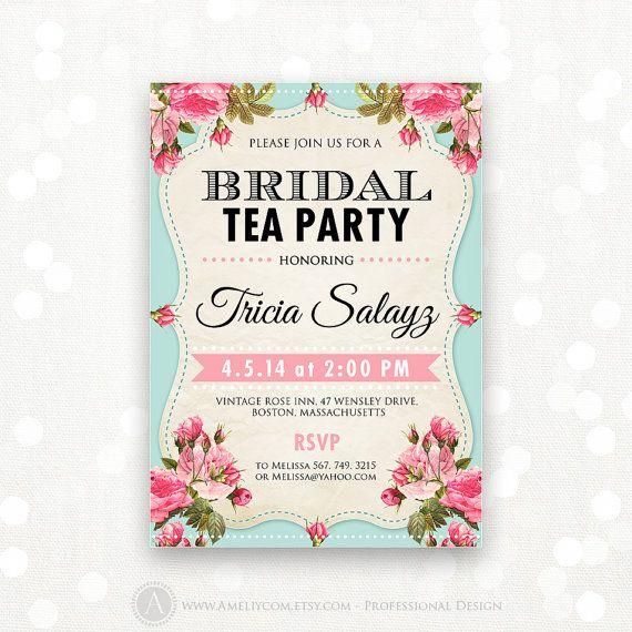 38 BRIDAL SHOWER INVITE WORDING TEA PARTY