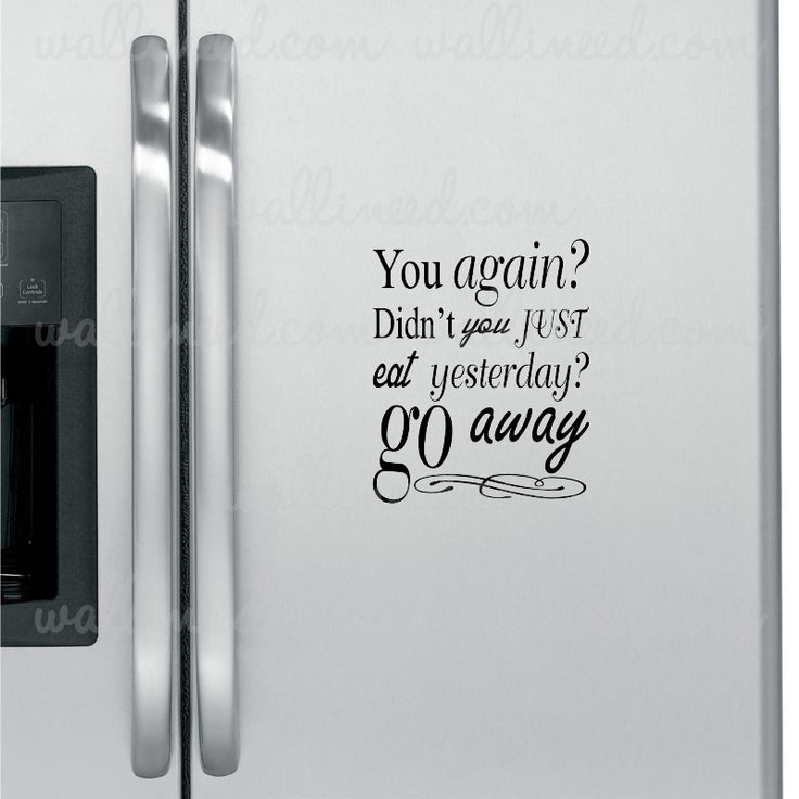 Go Away Fridge Sticker
