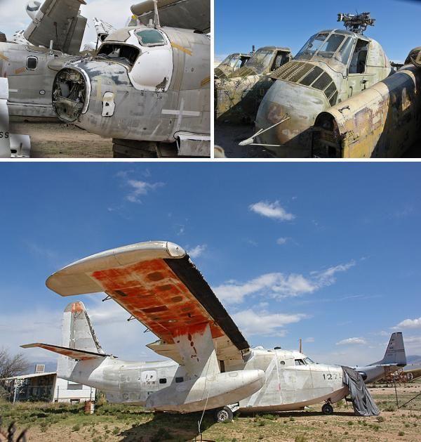 Desert Aircraft Boneyard Abandoned Aircraft, Airfields