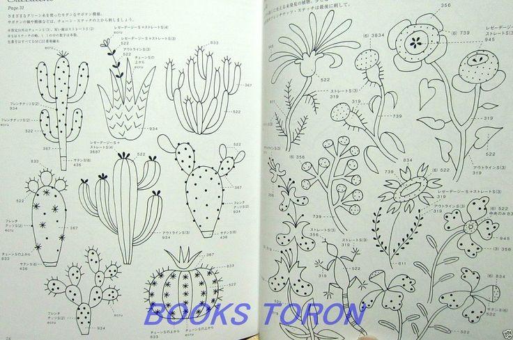 Brand NEW Yumiko Higuchi'S 12 Months Embroidery Japanese Craft Pattern Book…
