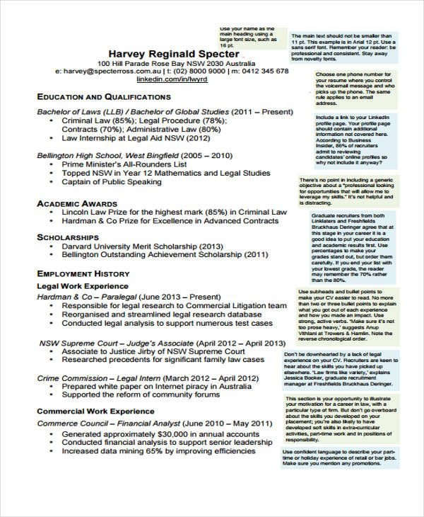 Cv Template Law Resume Format Student Resume Student Resume Template Law Student