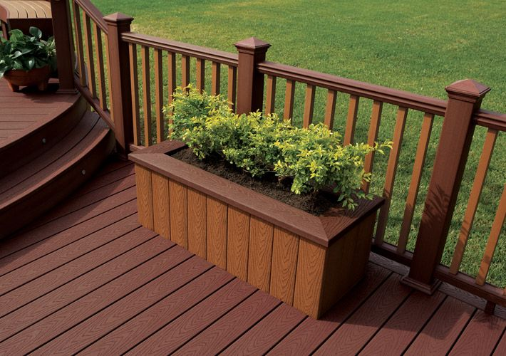 Deck planter boxes home depot woodworking projects plans - Deck rail planters lowes ...