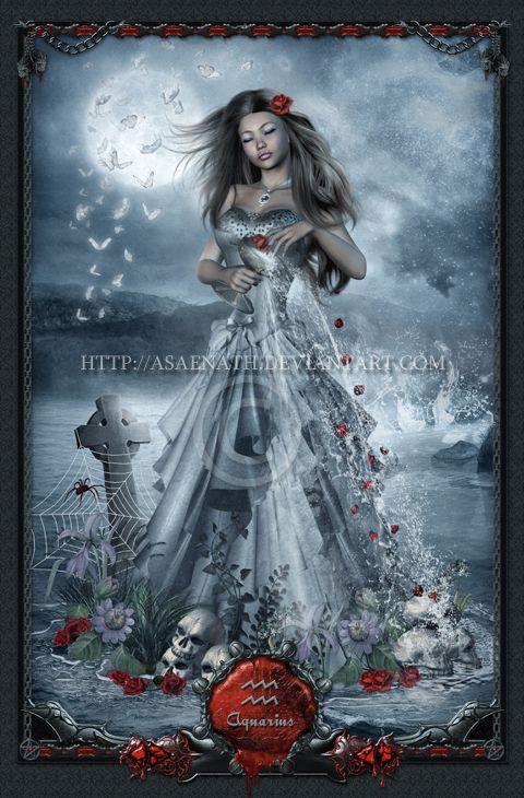 Gothic Zodiac: Aquarius by *UnholyVault on deviantART