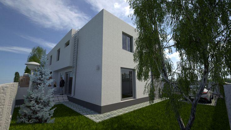 Simulare 3D a complexului rezidentialSilver Tree Residence, oras Bragadiru.