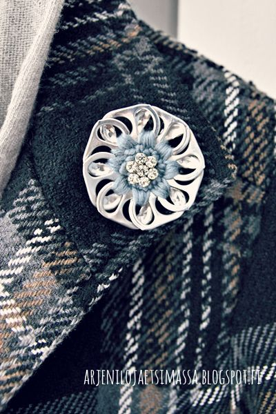 recycled brooch