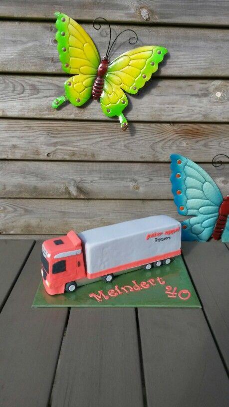Vrachtwagen 3D taart