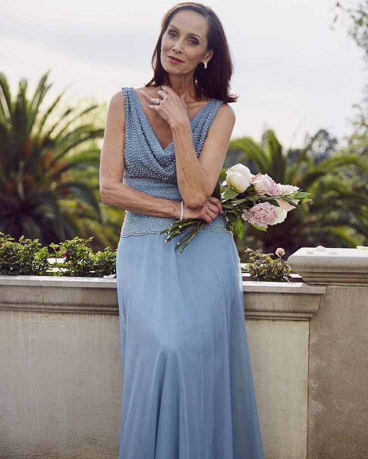 A look your mom will love. Tap the link in our profile to shop the newest arrivals for #motherofthebride dresses. #DavidsBridal #DBMom #MOB #IDoHue