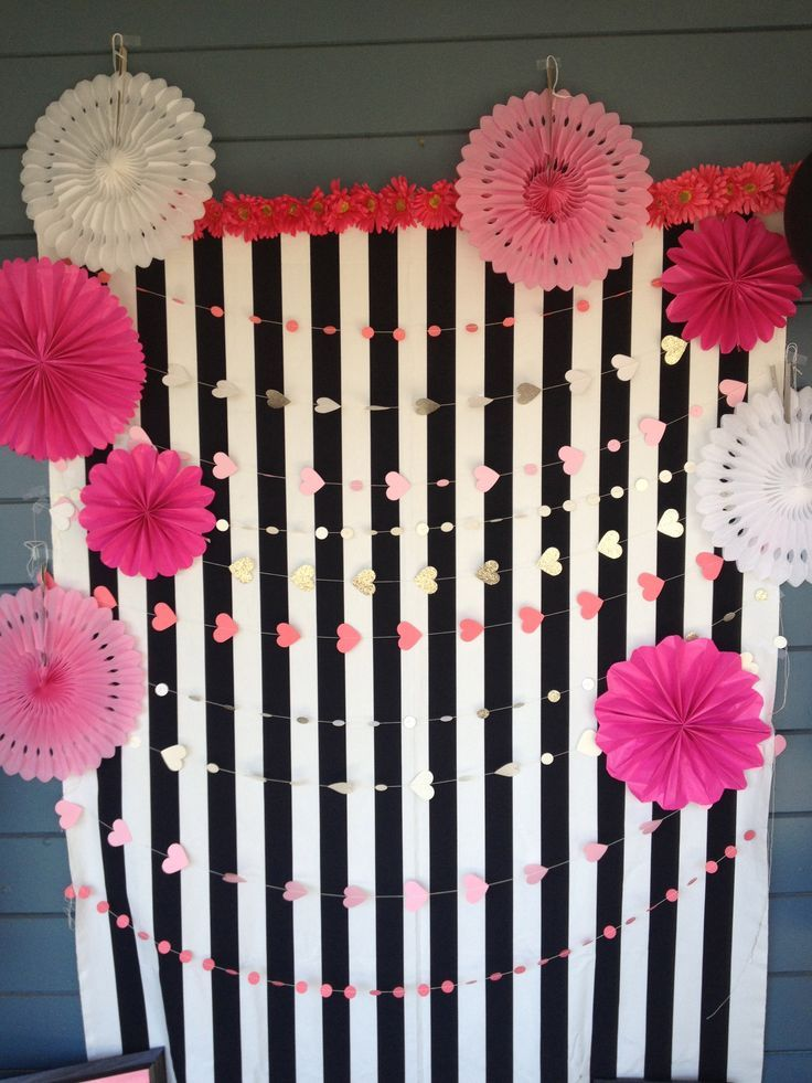 Kate Spade inspired photo booth.
