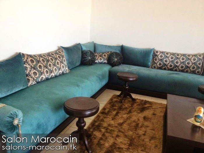 Salon Marocain Bleu Et Marron - onestopcolorado.com -