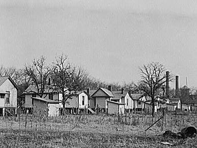 Cotton mill workers' housing in Gadsden Alabama in 1940