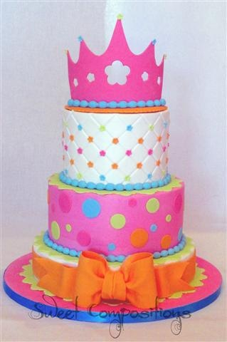 "Candy Princess birthday - went with ""candy shop"" colors instead of actual candy to make it more princessy :-)"