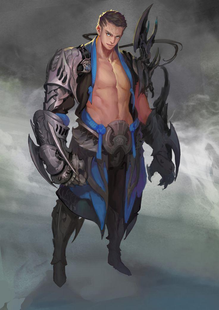 luf fighter, KD_kingdom Kang on ArtStation at https://www.artstation.com/artwork/B5ox6