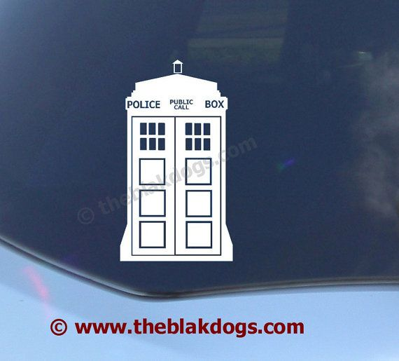Dr Who inspired Tardis  Vinyl Sticker Car Decal by blakdogs, $9.00