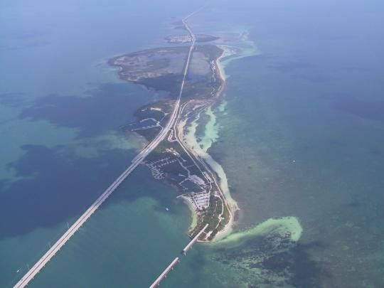 Photo: BAHIA HONDA SP. An aerial view of Bahia Honda Key which is surrounded by beautiful crystal clear water.
