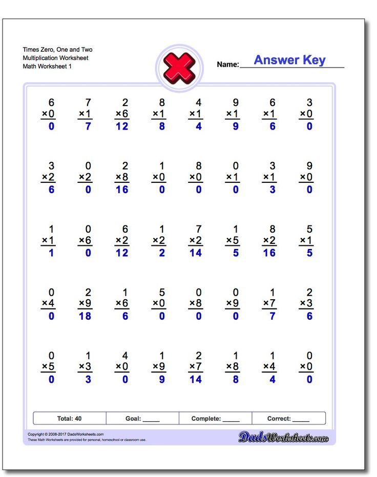 255 best Multiplication Worksheets images on Pinterest | Kids ...