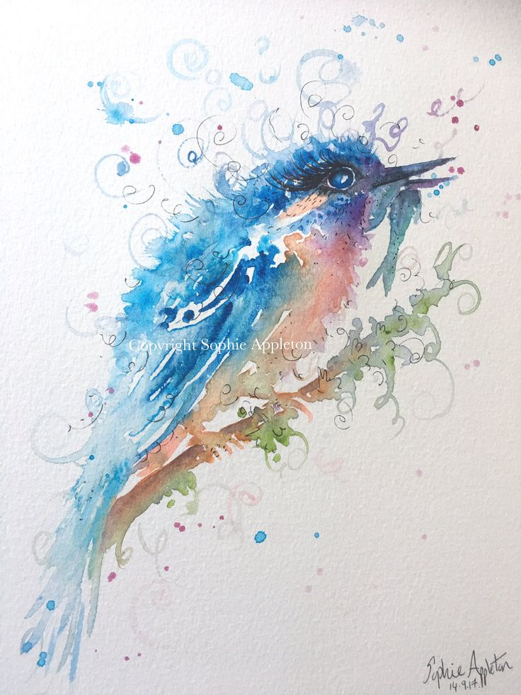 """Sophie Appleton Art on Twitter: """"Here is Kingfisher catch, size 12""""x9"""" I only used small paintbrushes at the end to highlight areas, it was mainly painted loosely big brush. https://t.co/mZU6X0pIeD"""""""