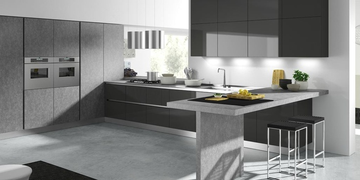 De grijze keuken