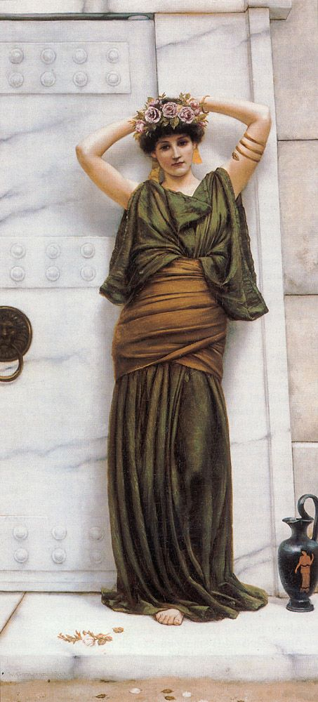 """Ianthe"" BEAUTIFUL COLORS John William Godward (1861 – 1922), English painter from the end of the Pre-Raphaelite / Neo-Classicist era."