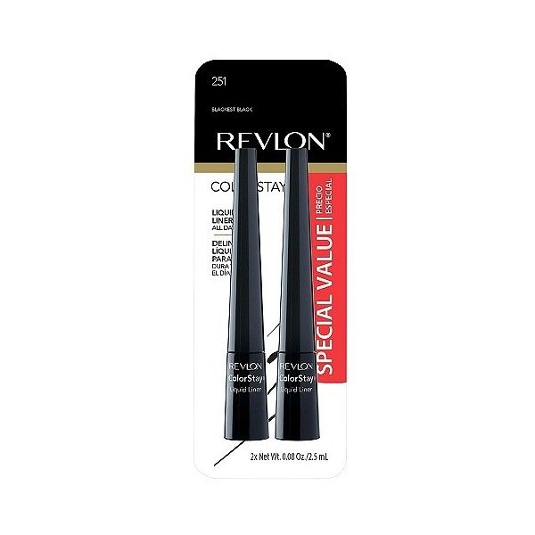 Revlon ColorStay Liquid Liner ($9.99) ❤ liked on Polyvore featuring beauty products, makeup, eye makeup, eyeliner, blackest black, liquid eyeliner, revlon, revlon eye liner, revlon eyeliner and liquid eye-liner