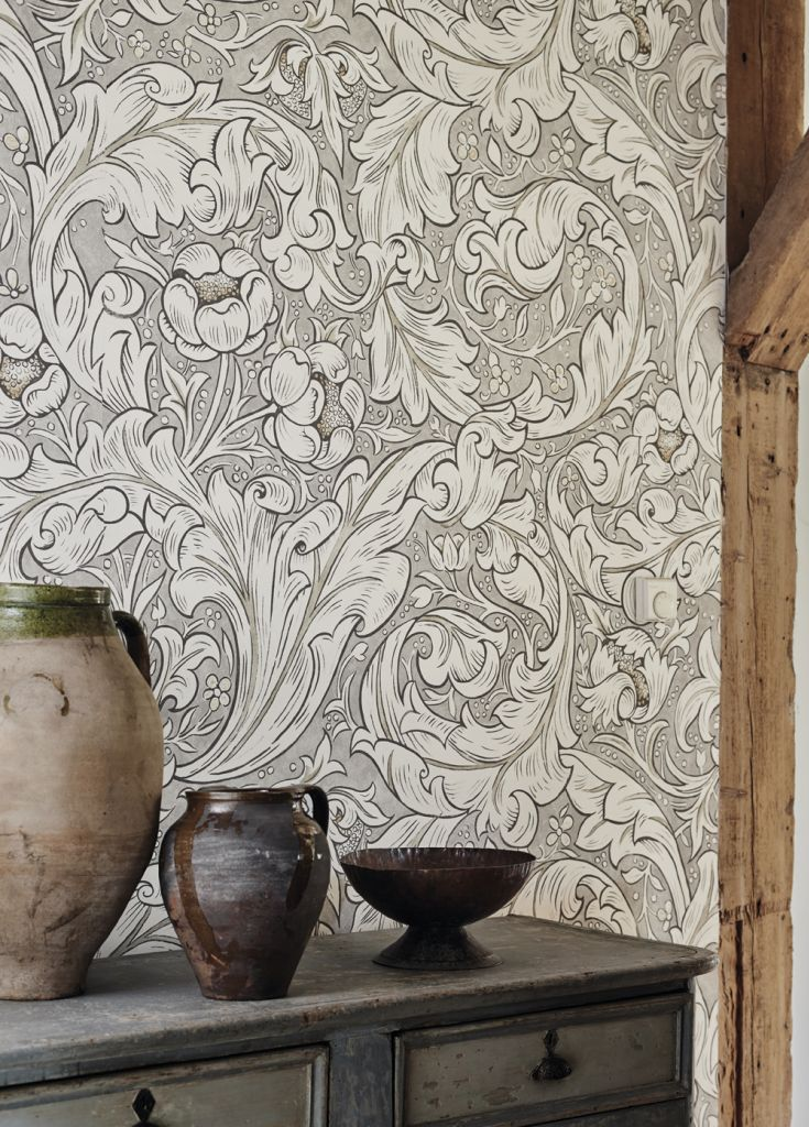 Stunning Batchelors Button wallpaper design by Morris.