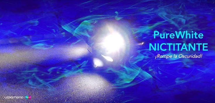 Las bombillas de alta gama #PureWhite NICTITANTE dan un giro revolucionario a todo lo que conocías hasta ahora para conducción nocturna en carretera tanto para coche, moto o camión/truck. Son el último prodigio de rendimiento, brillo y blancura de LEDIAMOND.
