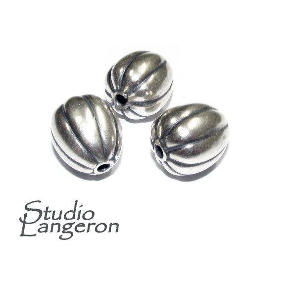 <b>925 sterling silver</b> handmade <b>beads</b> BB 75, handmade, silver <b>beads</b> ...