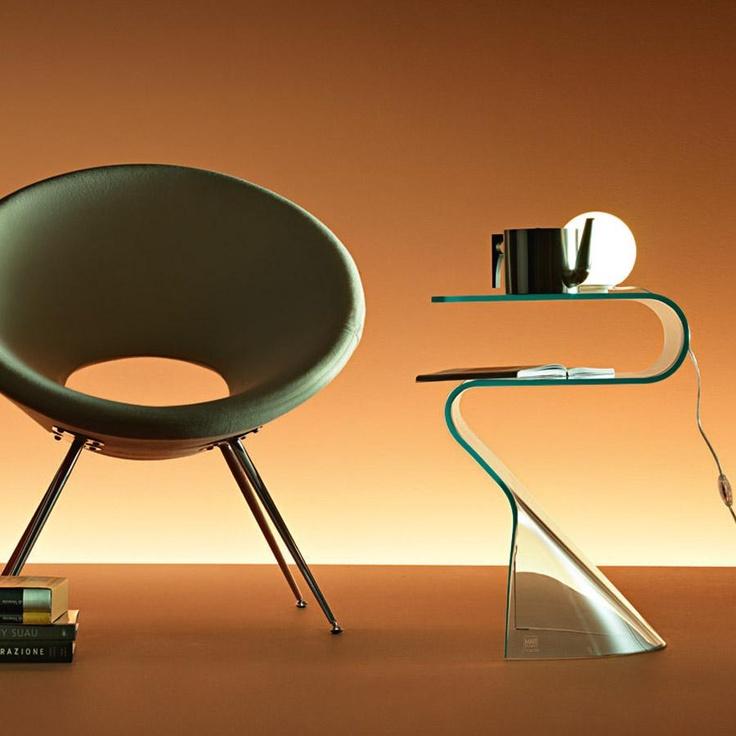 Toki Glass Bedside Table