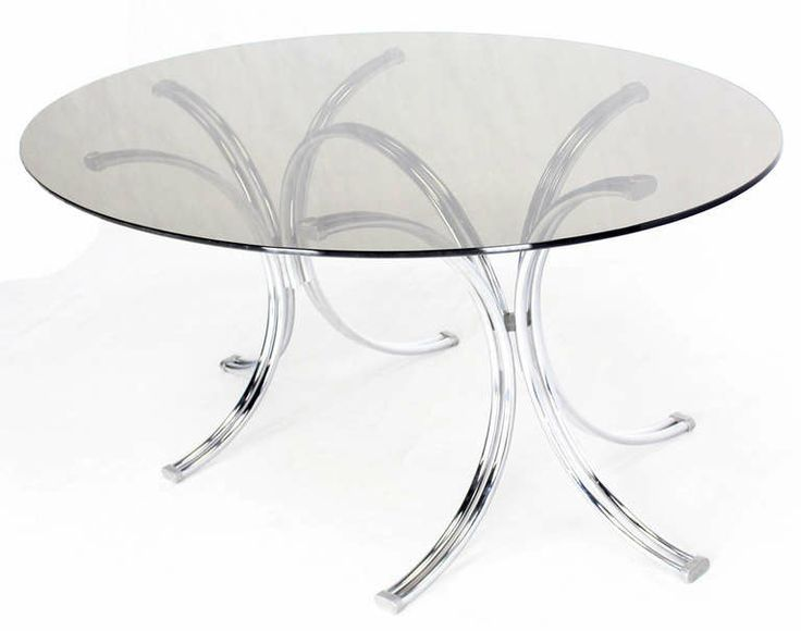 Roche Bobois Mid Century Modern Oval Glass Dining Table WIDTH: 6 Ft. 2 In