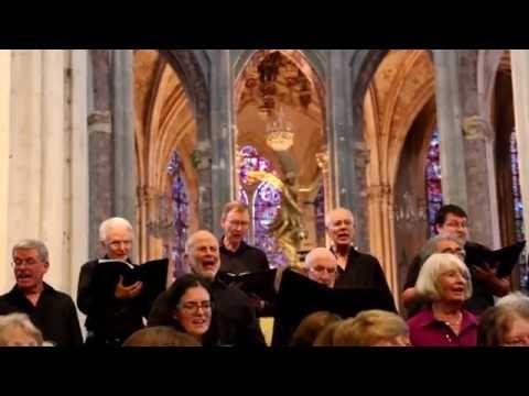 Birmingham Festival Choral Society singing the Hallelujah Chorus as an encore in St Julien du Sault 23/7/2016.