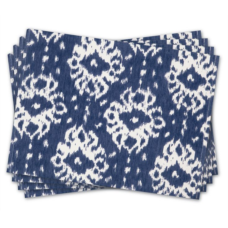 Madras - Java Indigo Placemat Set Of 4 | Peter's of Kensington