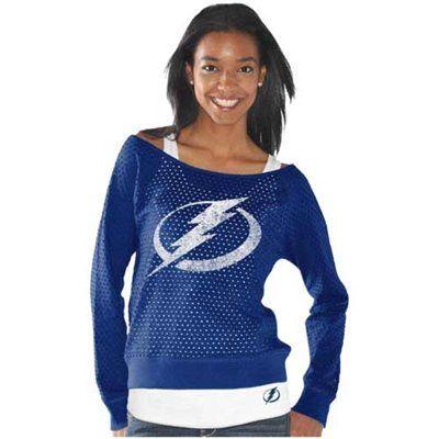 G-III 4Her Tampa Bay Lightning Ladies Holy Sweatshirt & Tank Set – Royal Blue