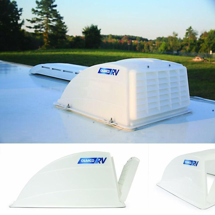 Camper Roof Vent Cover RV Trailer Rain Air Wind Protection Travel Lid Part White #Camco