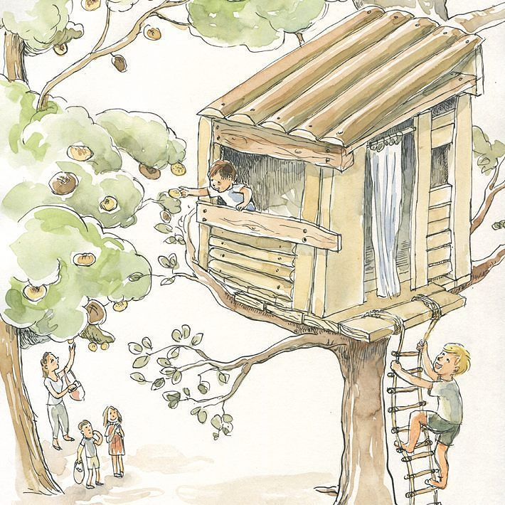 """""""Der magische Zaubergarten"""" Children book written by Amina Romano illustrated by me. It is published by Telegonos Verlag and you can find it -in German- in Amazon. #illustration #illustrationartists #childrenbook #childrenillustration #inkillustration #instaillustration #illustratorsofinstagram #analogillustration #treehouse #storytelling #telegonosverlag #aminaromano #catilustre"""