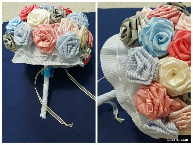 DIY Fabric Flower Bouquet! These were used for a wedding, but can make for other places to add a little decor to the house or a gift for someone.
