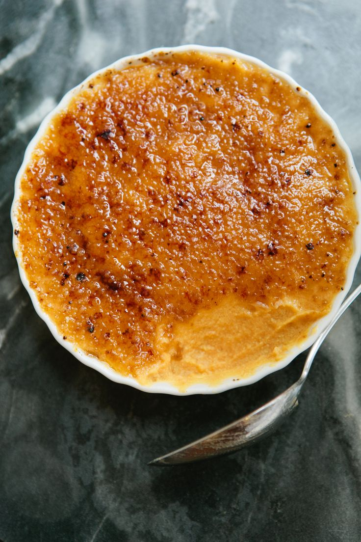 Sweet Potato Creme Brulee - A Thought For Food