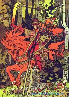 Russian folktale illustration, Ivan Bilibin.