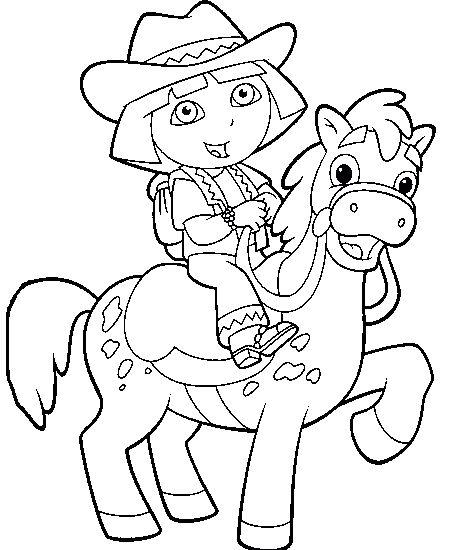 Dora The Explorer Horse Riding