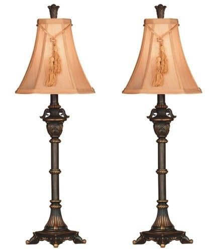 Lamp Buffet Table Tall Bronze Metallic Dining Room Accent Decor Living Room