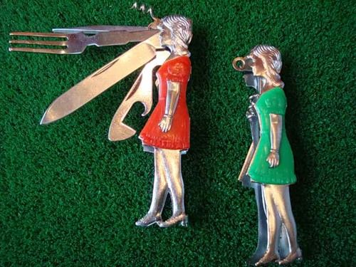 Vintage Pocket Knives - Drink and Bar Accessories Kitsch - The Allee Willis Museum of Kitsch
