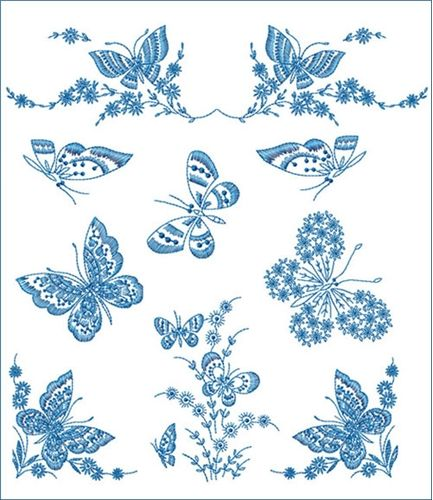 machine embroidery | View projects with Redwork Butterflies machine embroidery designs