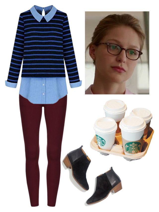 """Kara Danvers"" by rebellious-ingenue ❤ liked on Polyvore featuring Madewell"