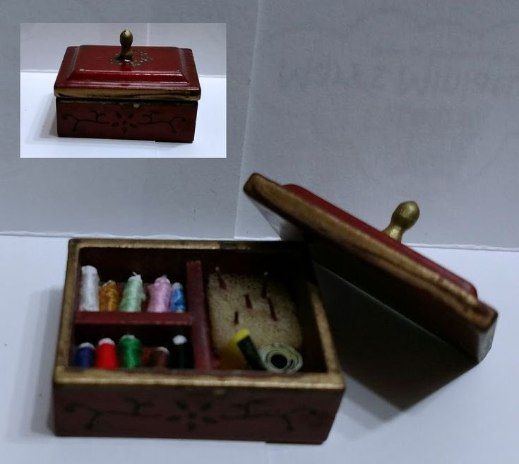 Sewing Box | Mary's Dollhouse Miniature Furniture & Accessories