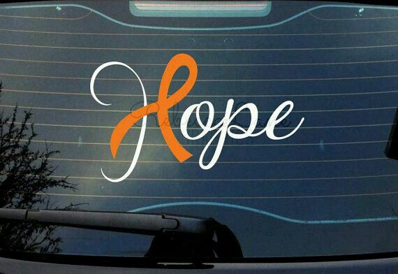 Hope with leukemia ribbion