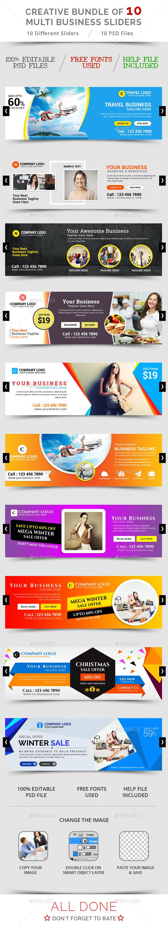 10 Creative Business Sliders Templates PSD. Download here…
