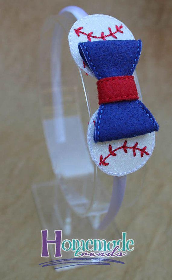 Baseball Hair Accessory-Baseball Bow-Baseball by HomemadeTrends