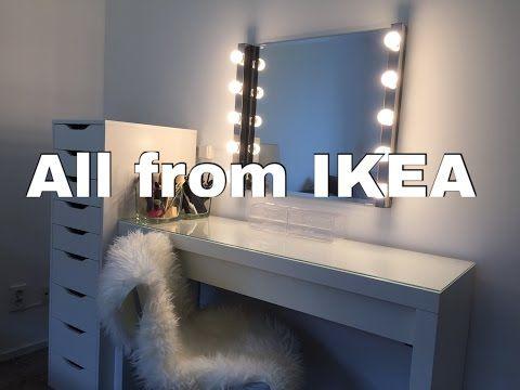 Ikeaや通販のドレッサー・女優ミラーで作る、憧れメイクルーム! コスメとメイクの研究室 ~ すこみみlabo