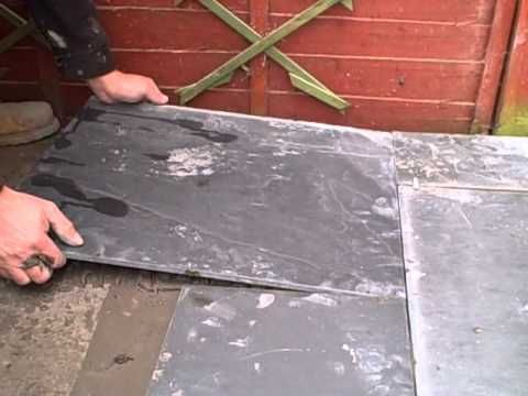 Laying Slate On A Solid Concrete Base (using Adhesive)   YouTube. Pavers Over  ConcreteSlate PaversPatio ...