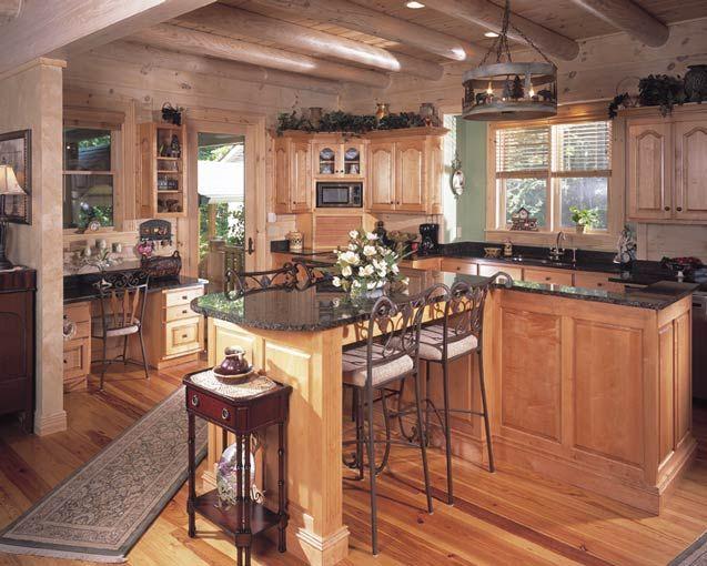 Wood Cabin Kitchen 35 best log cabins kitchens images on pinterest | dream kitchens