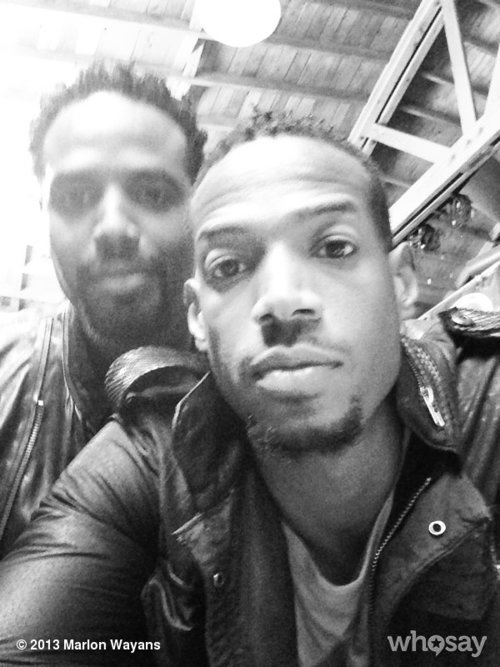 Me and big bro @shawn_wayans at the #millerlite shootView more Marlon Wayans on WhoSay